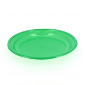 Talerz Plastikowe Płaski Zielone 205mm (10 Sztuk)