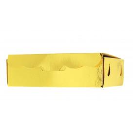 Pudełka na Czekoladki i Cukierki Złote 20x13x5,5cm 1000g (500 Sztuk)