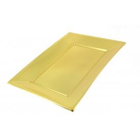 Tacki Plastikowe Złote 330x230mm (12 Sztuk)