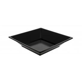 Talerz Plastikowe Głębokie Kwadratowi Czarni 170mm (360 Sztuk)