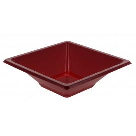 Miski Plastikowe PS Kwadratowi Bordeaux 12x12cm (25 Sztuk)