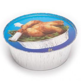 Pokrywka do Pojemnika Kraft z Kurczaka Okrągłe 1900ml (500 Sztuk)
