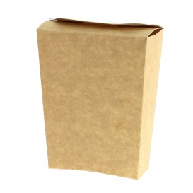 Pudełka Kraft Zamknięte na Frytki (25 Sztuk)