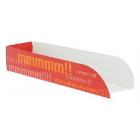 Rożek Papierowe Hot-Dogi 17x5x3,5cm (100 Sztuk)