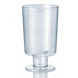 Kieliszki Plastikowe z Podstawa 100 ml (15 Sztuk)