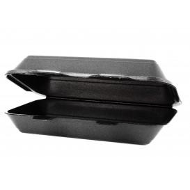 Pojemniki Styropianowe Obiadowe Czarni 240x155x70mm (125 Sztuk)