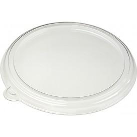 Wieczko Płaskie Plastikowe PET Szkło Ø21cm (150 Sztuk)