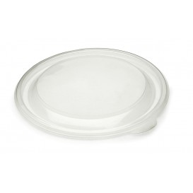 Pokrywka Plastikowe PP Sztywny Przezroczyste Ø23cm (25 Sztuk)