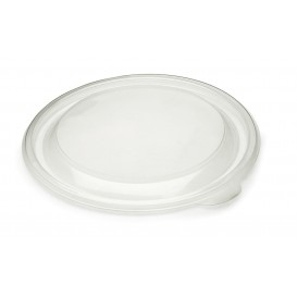 Pokrywka Plastikowe PP Sztywny Przezroczyste Ø13cm (50 Sztuk)