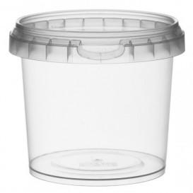 Pojemniki Plastikowe z Pokrywką z Plombą 365 ml Ø9,5 (456 Sztuk)