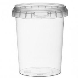 Pojemniki Plastikowe z Pokrywką z Plombą 520 ml Ø9,5 (19 Sztuk)