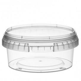 Pojemniki Plastikowe z Pokrywką z Plombą 300 ml Ø11,8 (34 Sztuk)