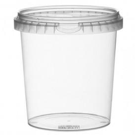 Pojemniki Plastikowe z Pokrywką z Plombą 870 ml Ø11,8 (19 Sztuk)