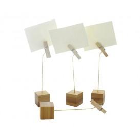 Stojak Bambusowy na Karty 130mm (12 Sztuk)