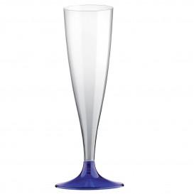 Kieliszki Plastikowe do Wina Musującego na Podstawie Niebieski 140ml 2P (400 Sztuk)