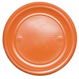 Talerz Plastikowe PS Płaski Orange Ø220mm (30 Sztuk)
