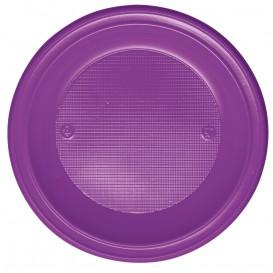 Talerz Plastikowe PS Głębokie Fioletowa Ø220mm (600 Sztuk)