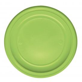 Talerz Plastikowe PS Płaski Zielony Limonka Ø220 mm (30 Sztuk)