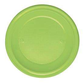 Talerz Plastikowe PS Głębokie Zielony Limonka Ø220mm (30 Sztuk)