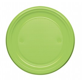 Talerz Plastikowe PS Płaski Zielony Limonka Ø170mm (1100 Sztuk)