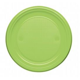 Talerz Plastikowe PS Płaski Zielony Limonka Ø170mm (50 Sztuk)