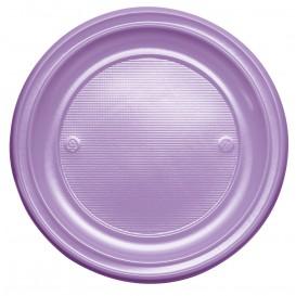 Talerz Plastikowe PS Płaski Liliowa Ø220 mm (30 Sztuk)