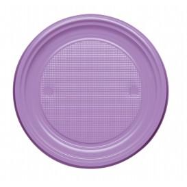 Talerz Plastikowe PS Płaski Liliowa Ø170mm (50 Sztuk)