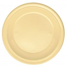 Talerz Plastikowe PS Głębokie Kremowy Ø220 mm (30 Sztuk)