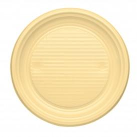 Talerz Plastikowe PS Płaski Kremowy Ø170mm (50 Sztuk)