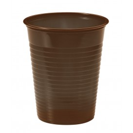 Vaso de Plastico Marrón PS 200ml (50 Uds)