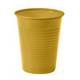 Kubki Plastikowe PS Złote 200ml Ø7cm(50 Sztuk)