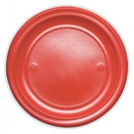 Talerz Plastikowe PS Płaski Czerwerne Ø220mm (780 Sztuk)