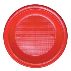 Talerz Plastikowe PS Głębokie Czerwerne Ø220mm (30 Sztuk)
