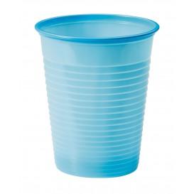 Kubki Plastikowe PS Niebieski Światło 200ml Ø7cm (50 Sztuk)