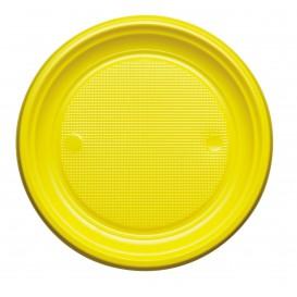 Talerz Plastikowe PS Płaski Żółty Ø220mm (780 Sztuk)