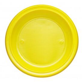 Talerz Plastikowe PS Głębokie Żółty Ø220mm (30 Sztuk)