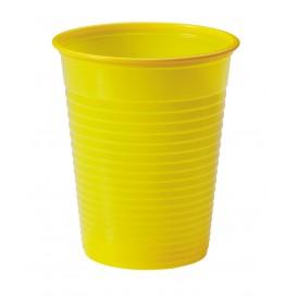 Kubki Plastikowe PS Żółty 200ml Ø7cm (50 Sztuk)