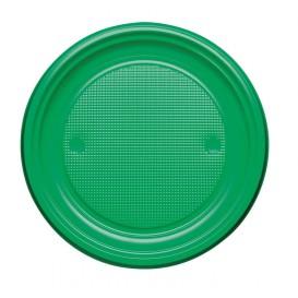 Talerz Plastikowe PS Płaski Zielone Ø170mm (50 Sztuk)