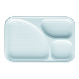 Tacki Plastikowe PS Białe 3C 315x210mm (100 Sztuk)
