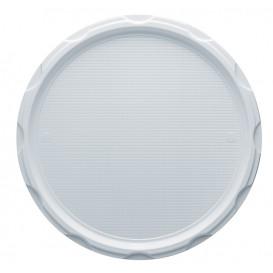 Talerz Plastikowe PS do Pizzi Białe 320 mm (100 Sztuk)