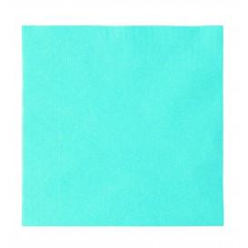 Serwetki Papierowe 2 Warstwy Niebieski Światło 33x33cm (50 Sztuk)