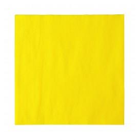Serwetki Papierowe 2 Warstwy Żółty 33x33cm (50 Sztuk)