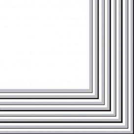 Serwetki Papierowe 2 Warstwy Srebro 33x33 cm (480 Sztuk)