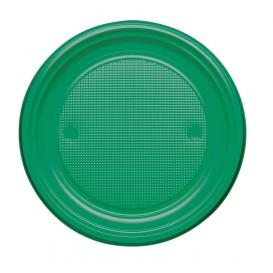 Talerz Plastikowe PS Płaski Zielone Ø220mm (30 Sztuk)