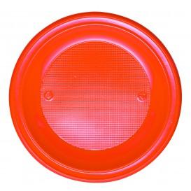 Talerz Plastikowe PS Głębokie Orange Ø220mm (30 Sztuk)