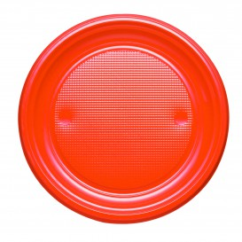 Talerz Plastikowe PS Płaski Orange Ø170mm (50 Sztuk)