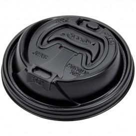 Pokrywka Podwójna Plomba Plastikowe PS Czarni Ø9,4cm (100 Sztuk)