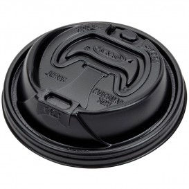 Pokrywka Podwójna Plomba Plastikowe PS Czarni Ø9,4cm (1000 Sztuk)