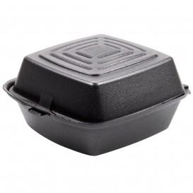 Pudełka na Burgeri Styropianowe Czarni 150x150x80mm (500 Sztuk)