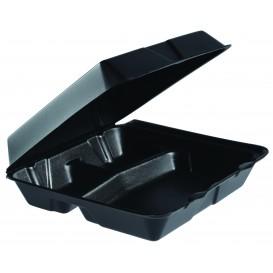 Pojemniki Styropianowe MenuBox 3C. Czarni 240x235mm (100 Sztuk)